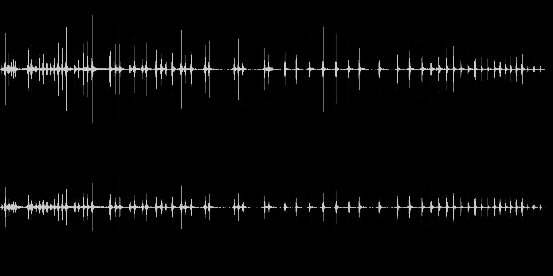 オナラの未再生の波形