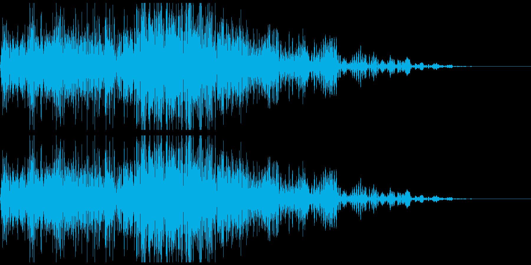 メカ挙動音、衝撃音の再生済みの波形