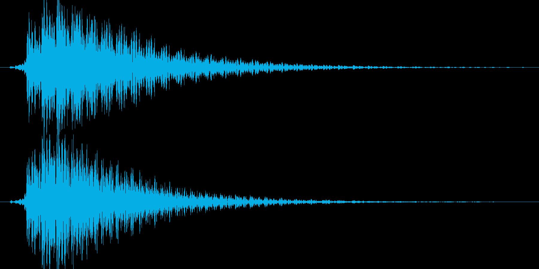 攻撃キャンセル音の再生済みの波形
