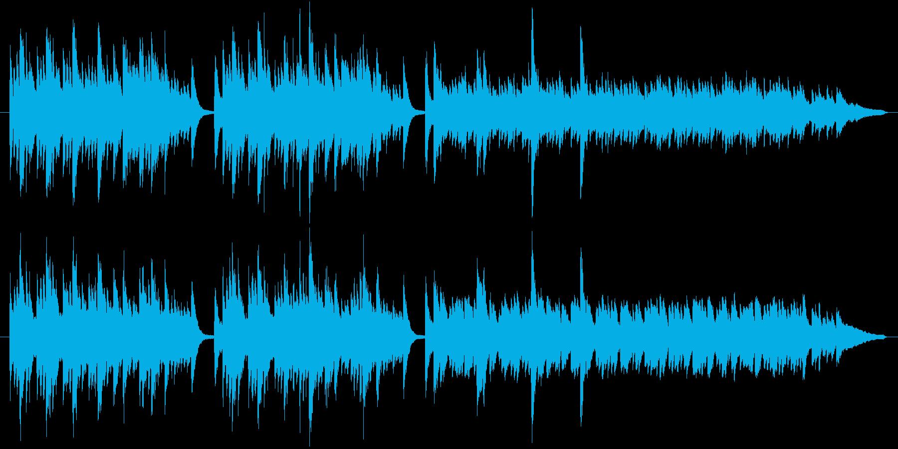神秘的な雰囲気のピアノ曲です。リバーブ…の再生済みの波形