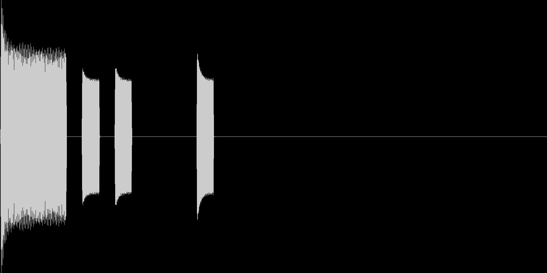 機械を表す効果音の未再生の波形