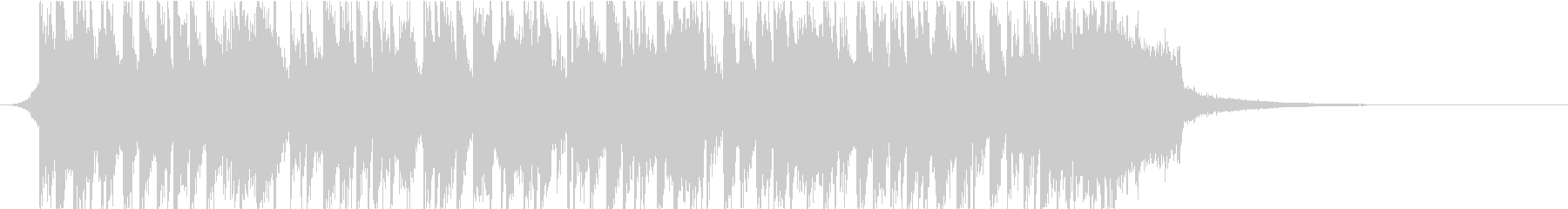 ビッグバンド風オープニングの未再生の波形