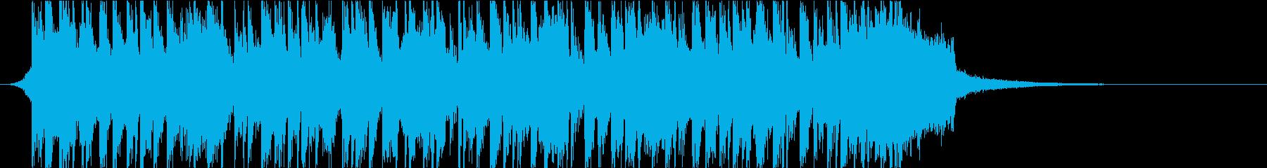 ビッグバンド風オープニングの再生済みの波形