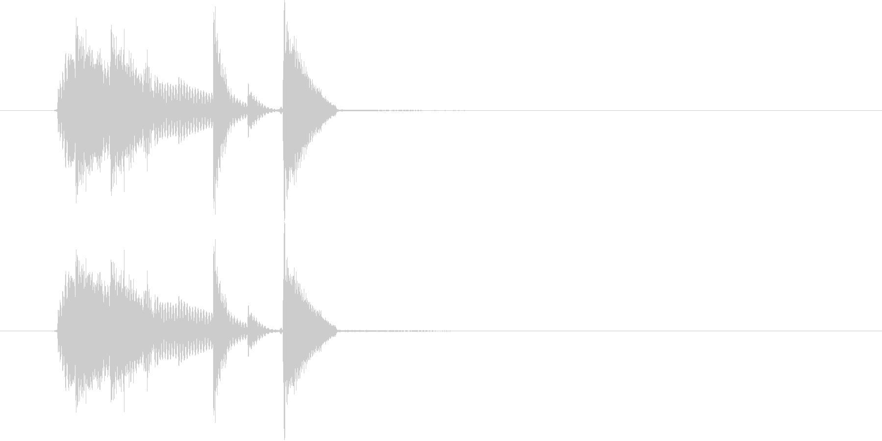 GO(掛け声)の未再生の波形