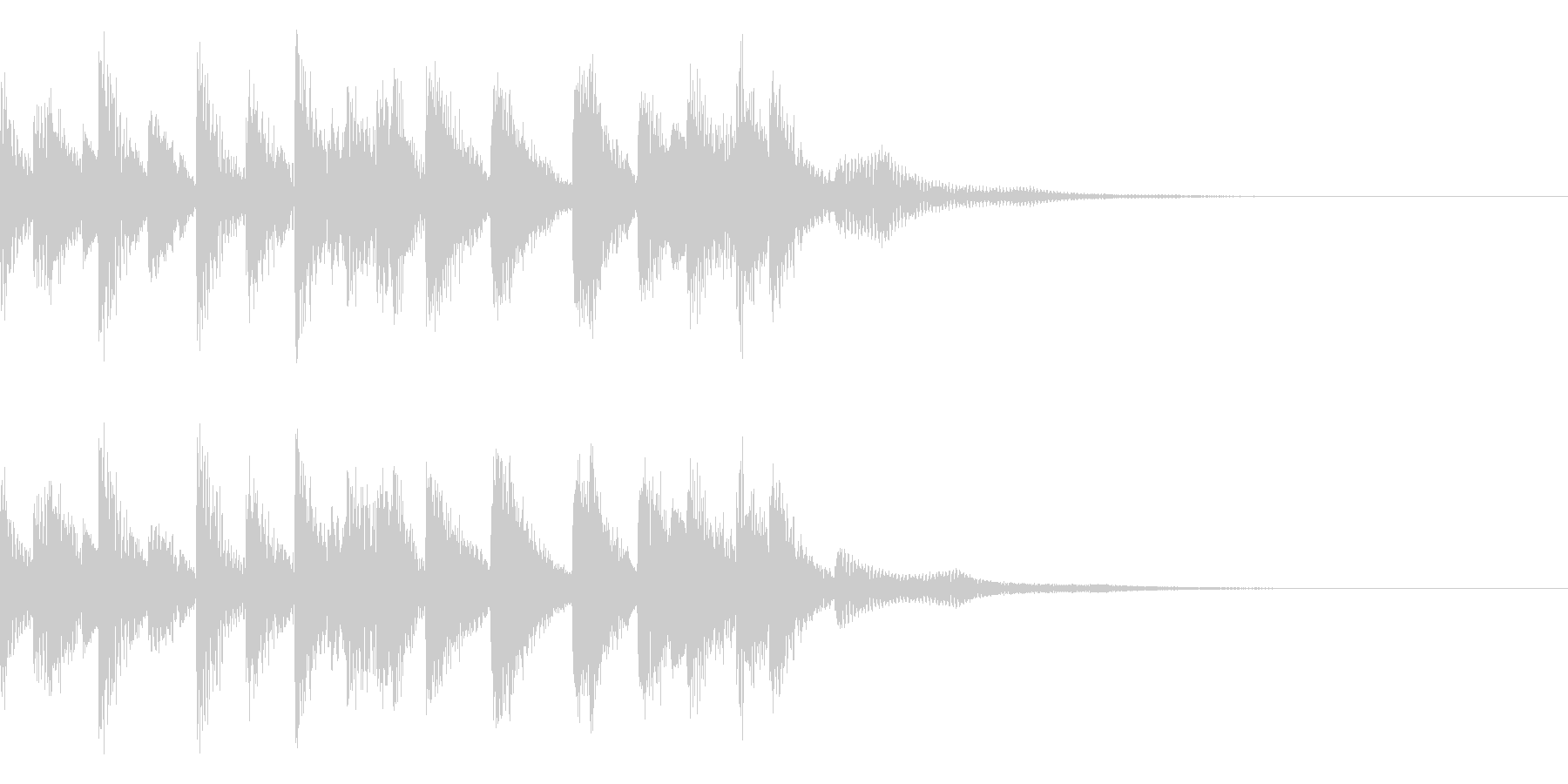 オーソドックスなジャズのエンディング素材の未再生の波形