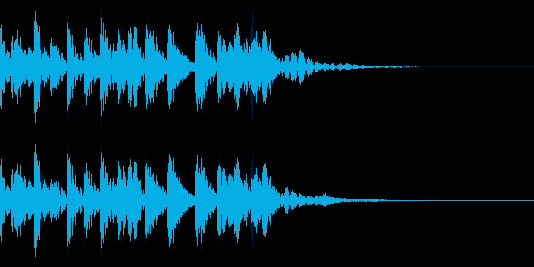 オーソドックスなジャズのエンディング素材の再生済みの波形