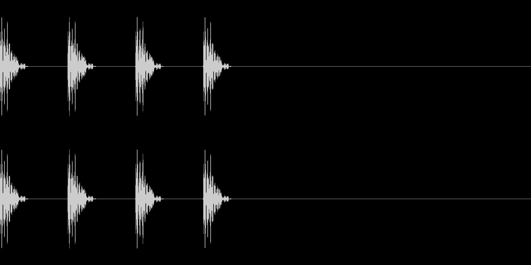 タッタッタッ…ゲーム風 階段の音の未再生の波形