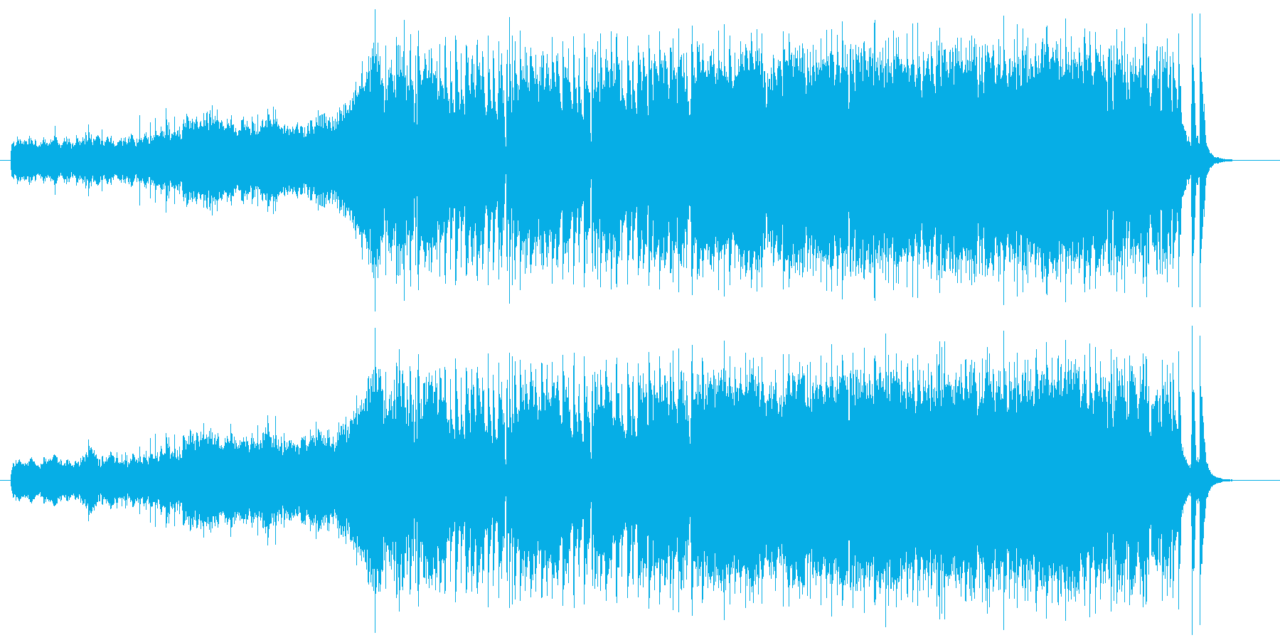 エレキギターのリフが印象的なジングル曲の再生済みの波形