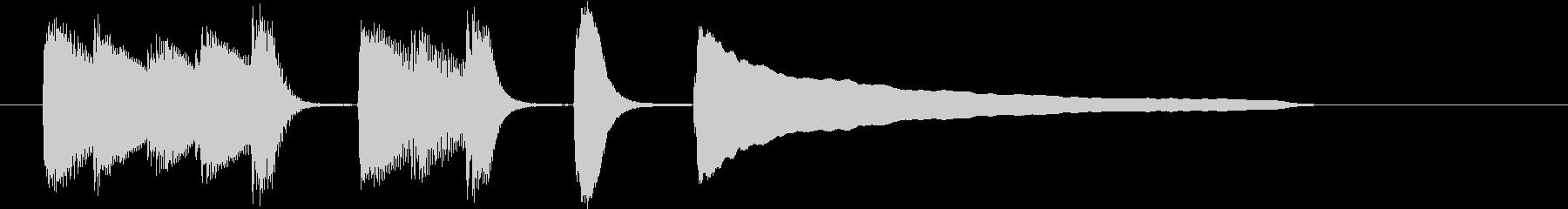 単純な音を使ったジングルの未再生の波形