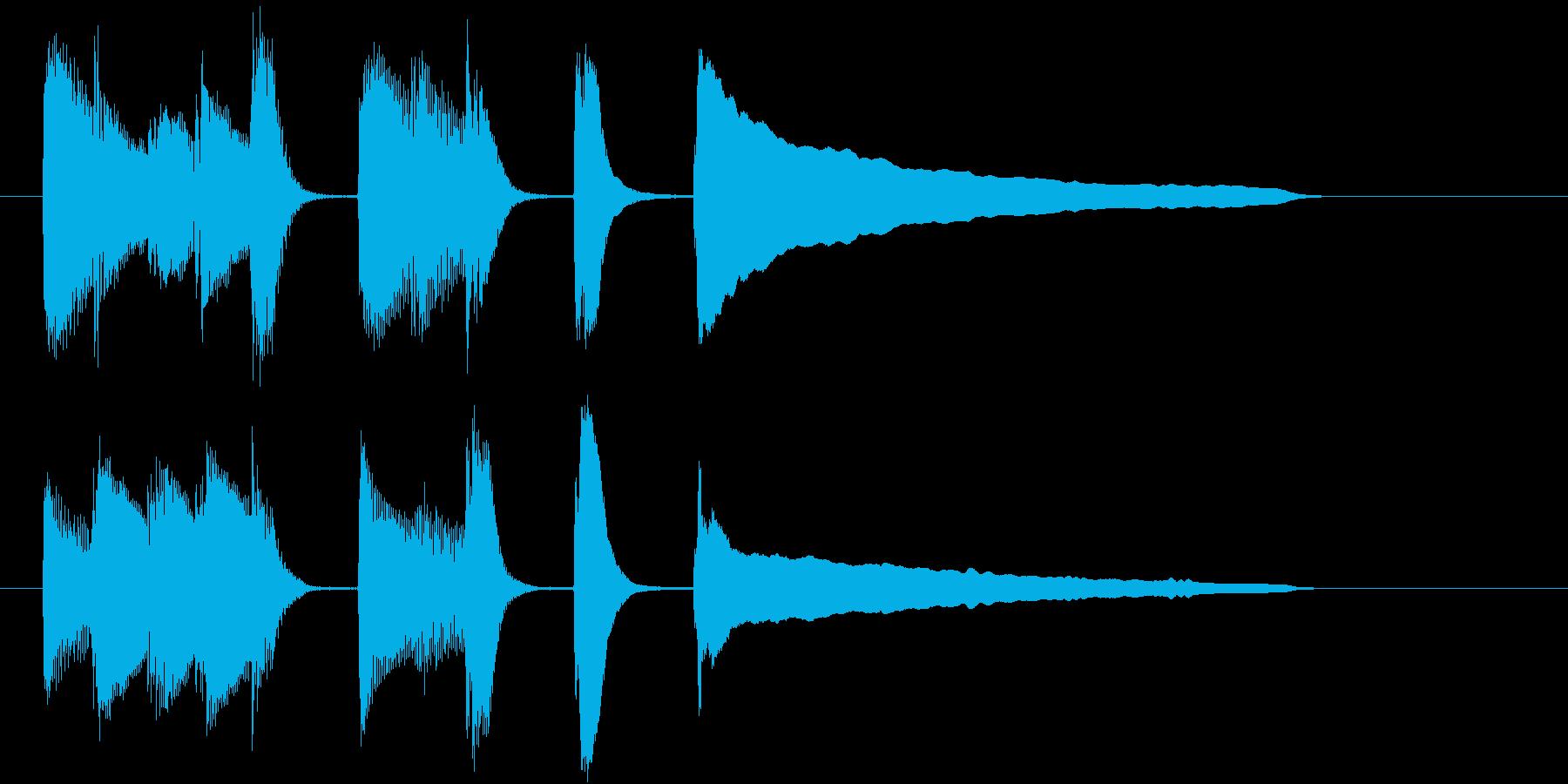 単純な音を使ったジングルの再生済みの波形