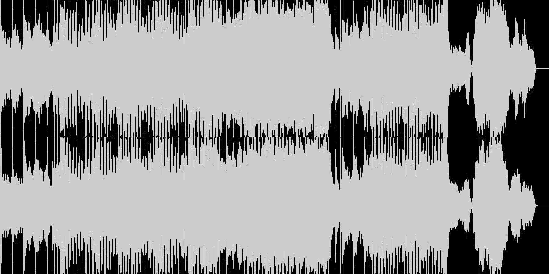 神秘的なリズミックなオーケストラ楽曲の未再生の波形