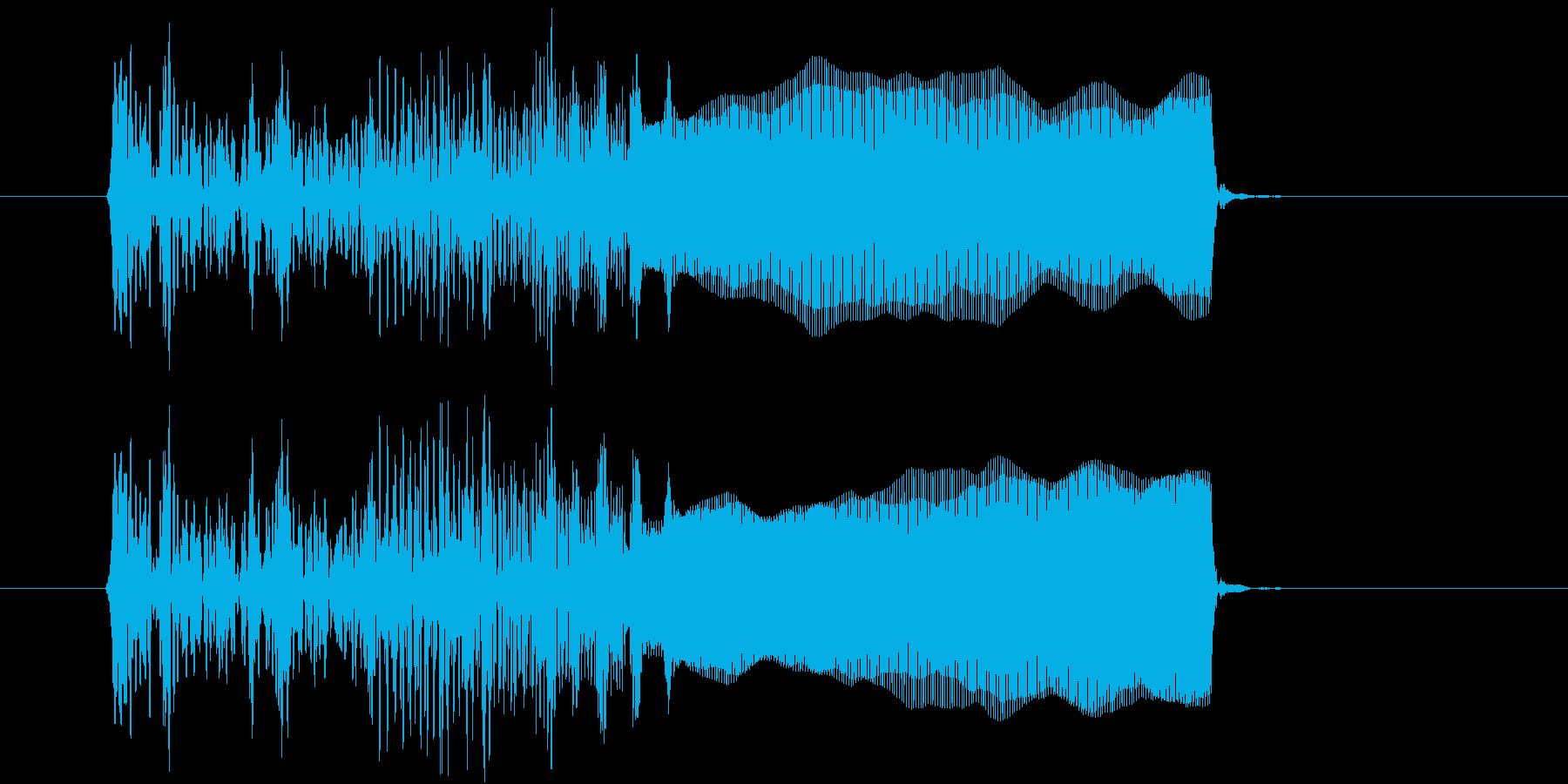 オルガンのグリッサンドの再生済みの波形
