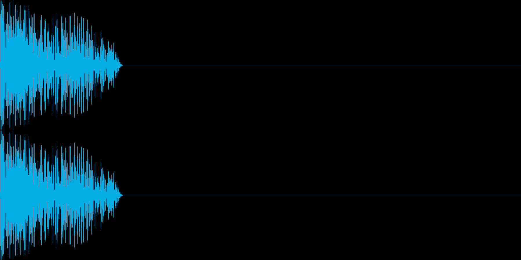 攻撃音05(中規模の銃)の再生済みの波形