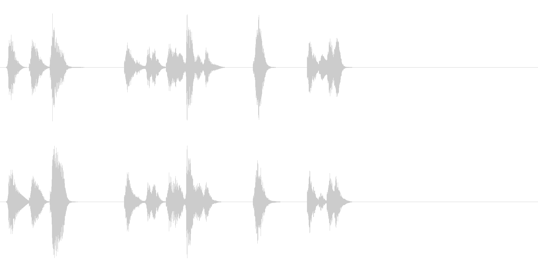 小さいエイリアンの発声の未再生の波形