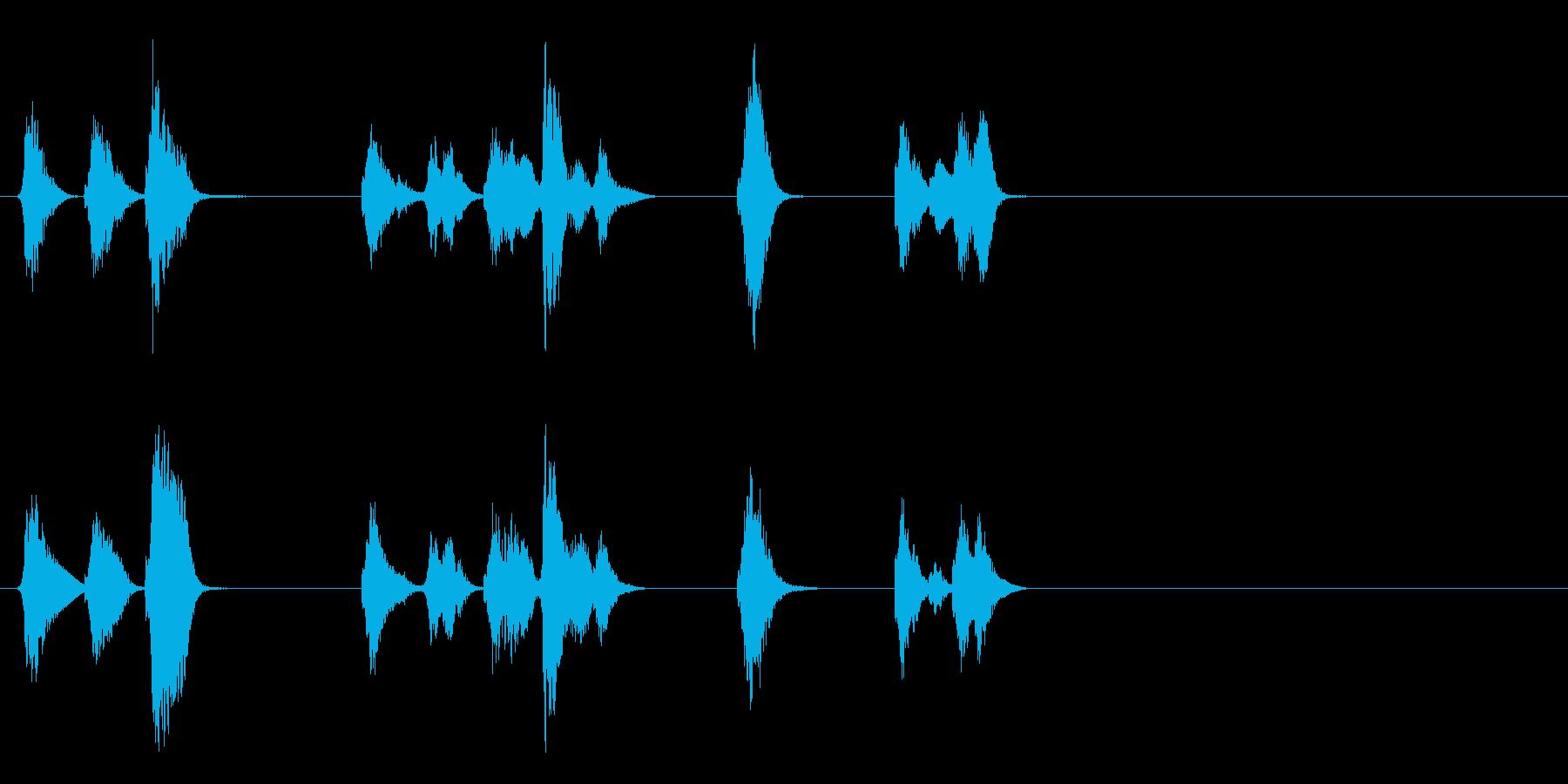 小さいエイリアンの発声の再生済みの波形