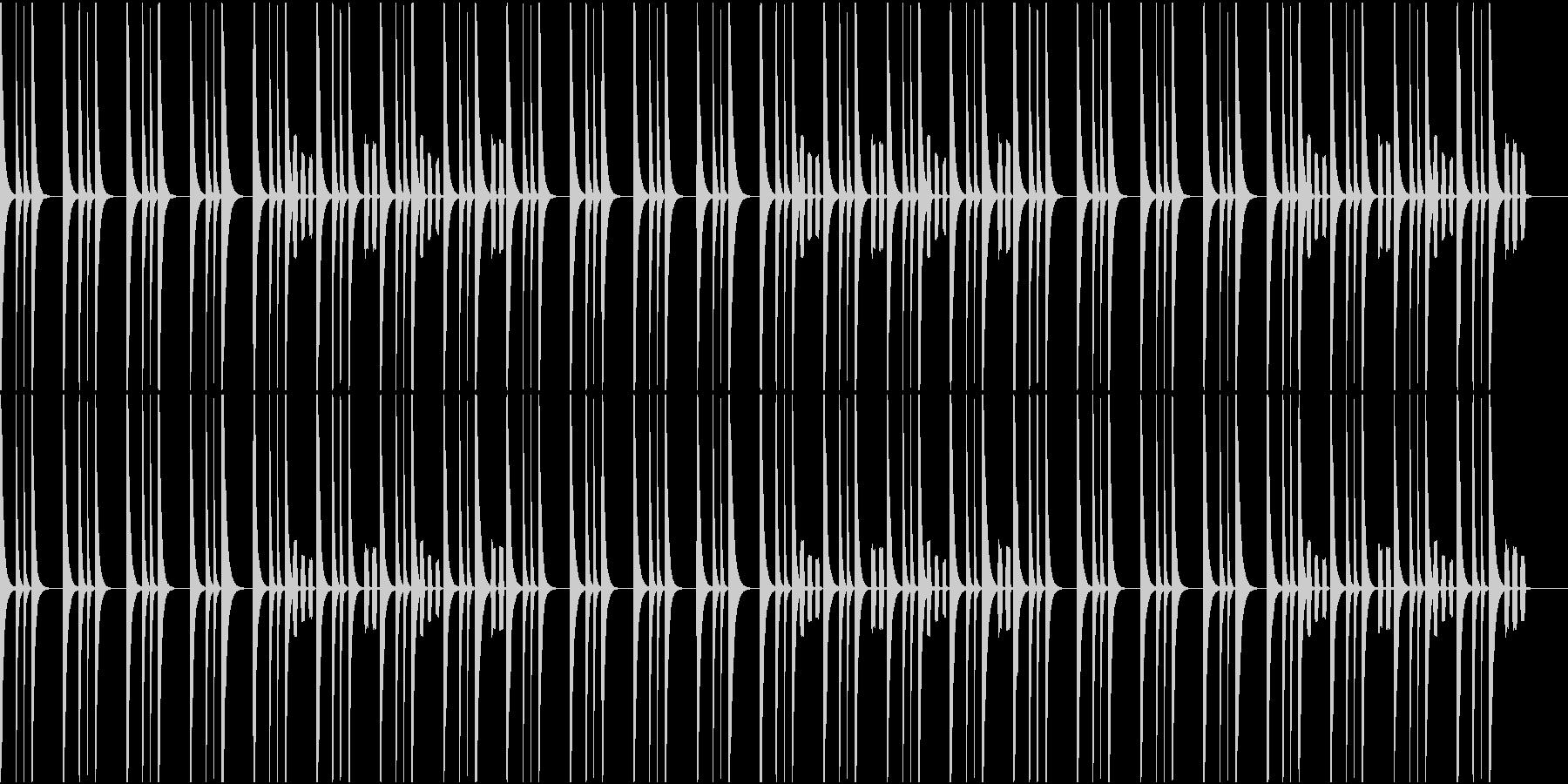 ホッとするBGMの未再生の波形