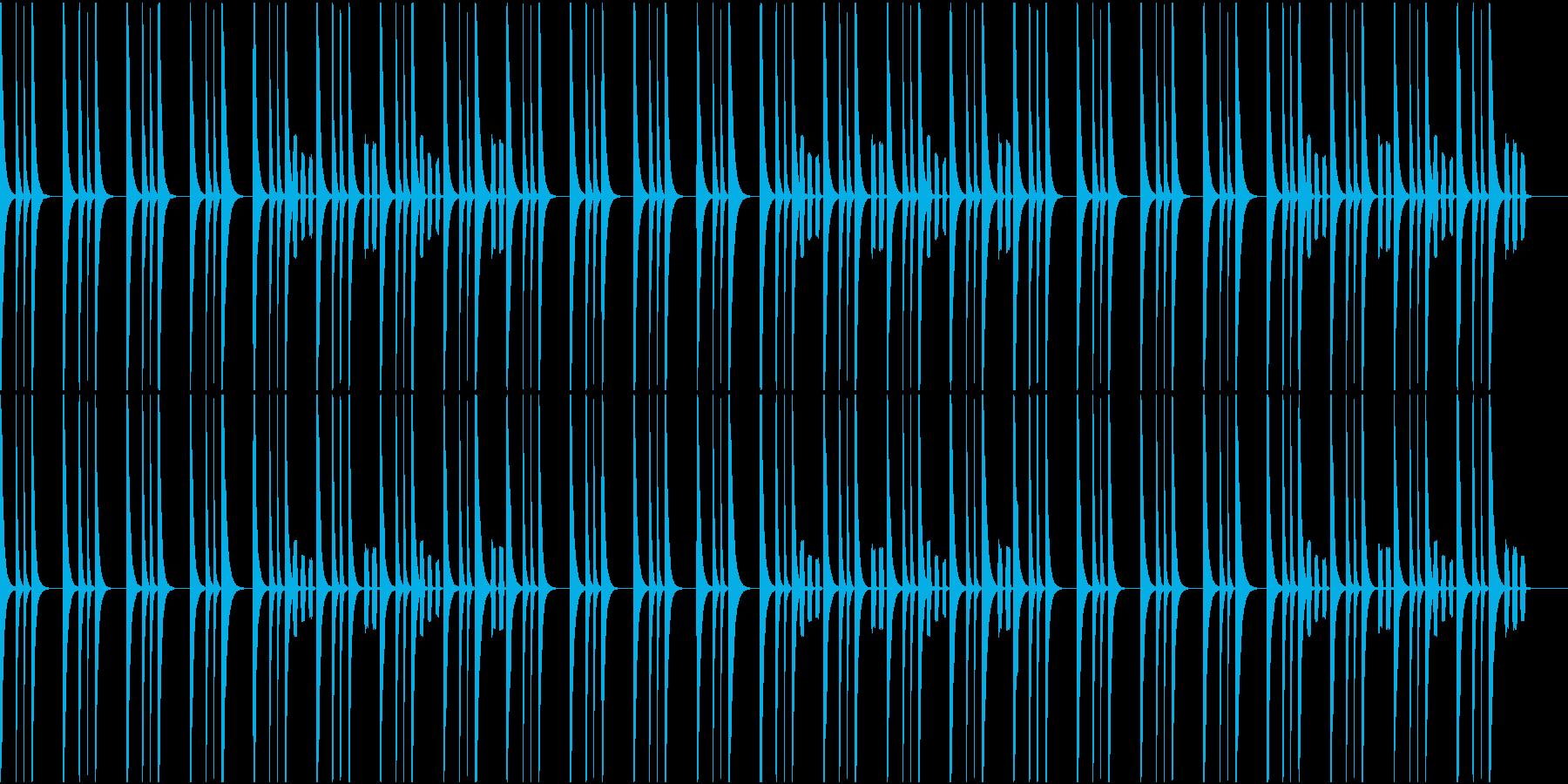 ホッとするBGMの再生済みの波形