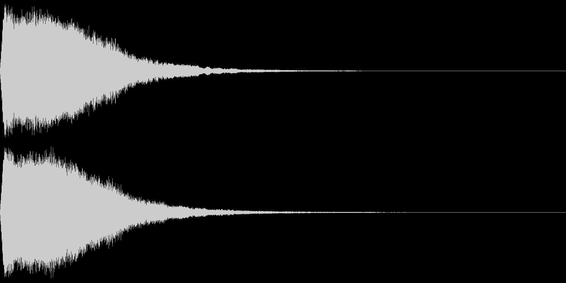 ワープ音(高音)の未再生の波形