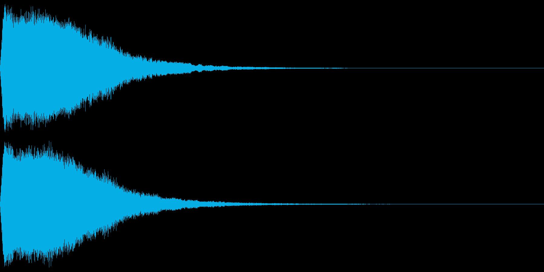 ワープ音(高音)の再生済みの波形
