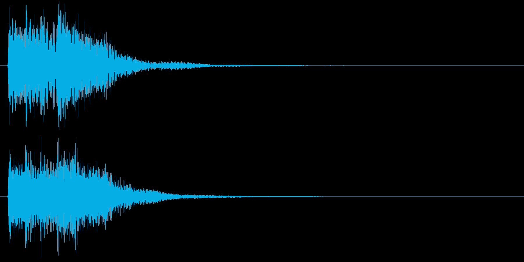 レベル・ステータス変化な効果音 3の再生済みの波形