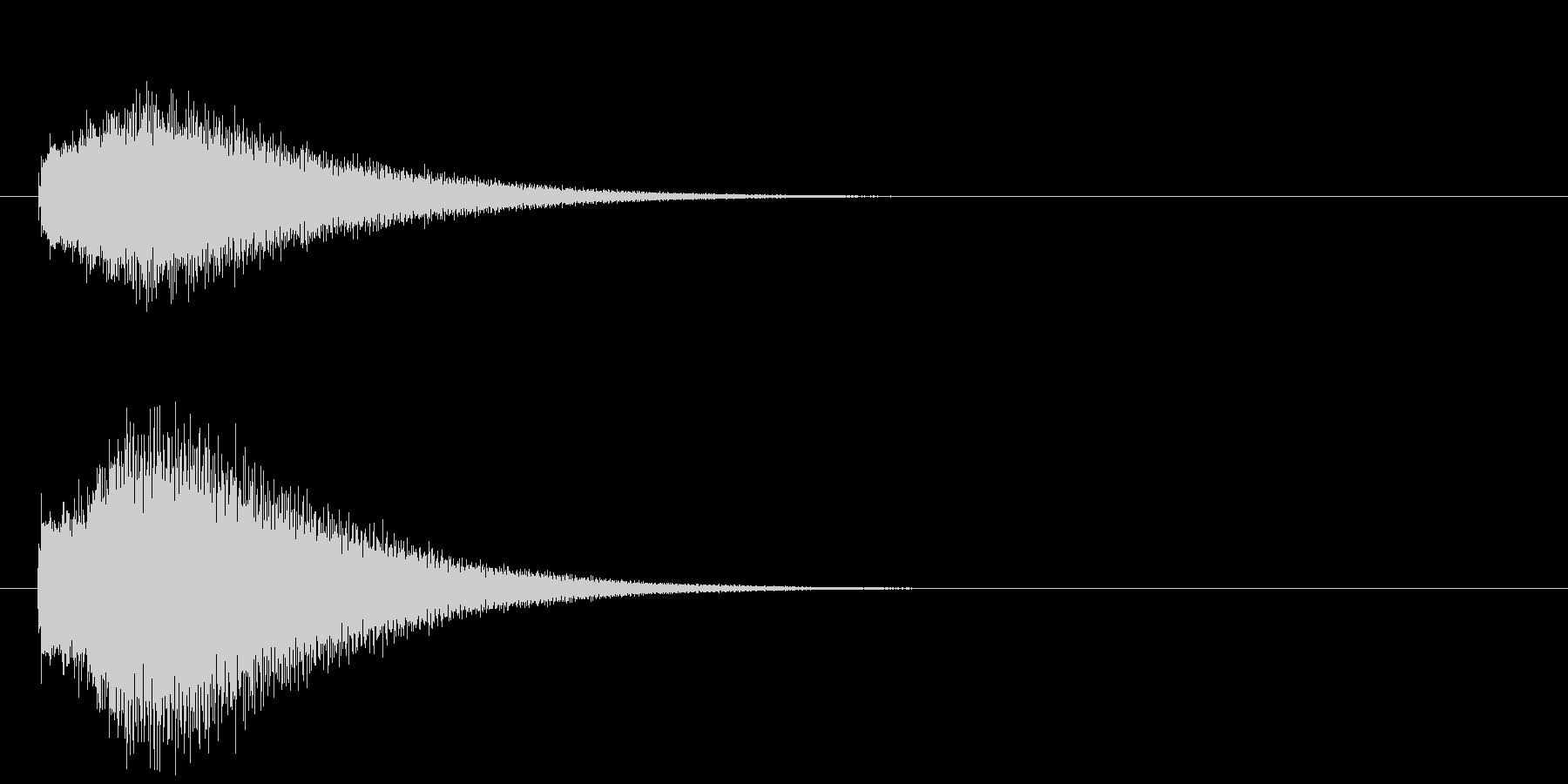 グリッサンド02 グロッケン(下降)の未再生の波形