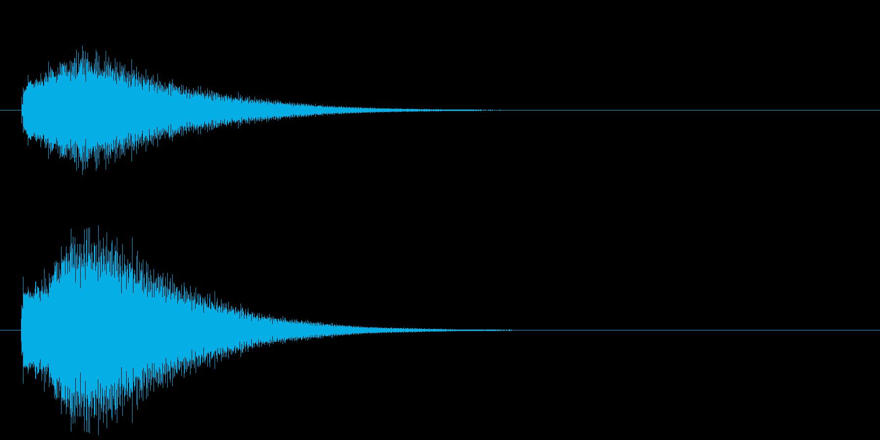 グリッサンド02 グロッケン(下降)の再生済みの波形