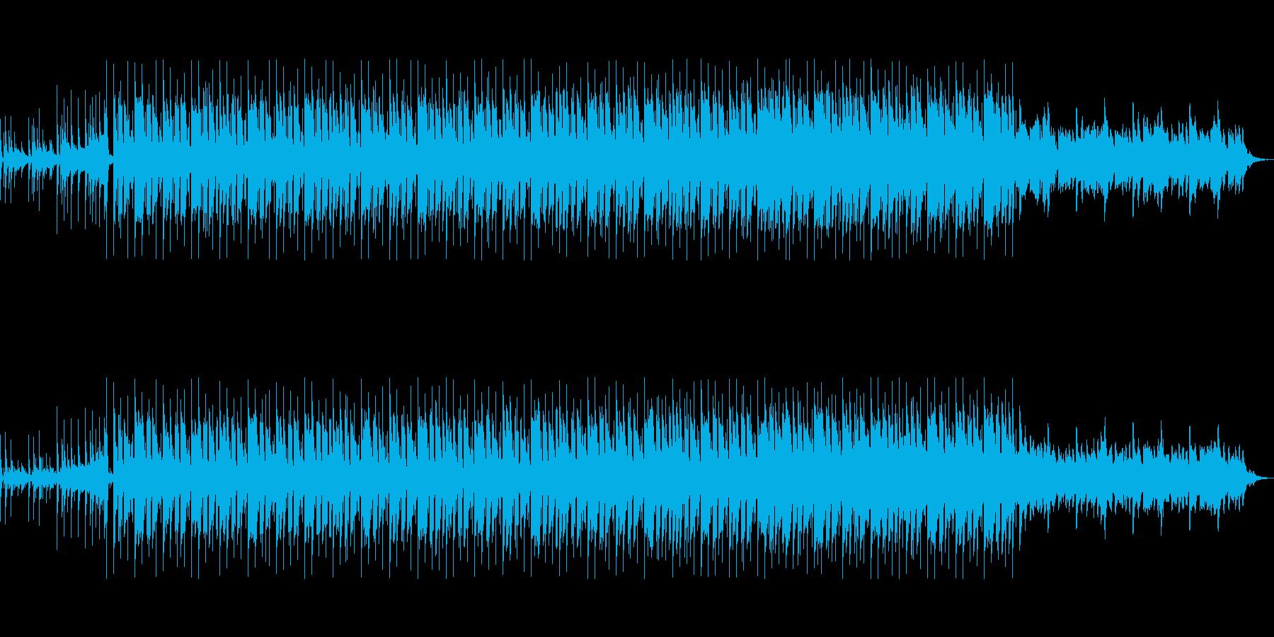 スタイリッシュなCM映像向きテクノポップの再生済みの波形