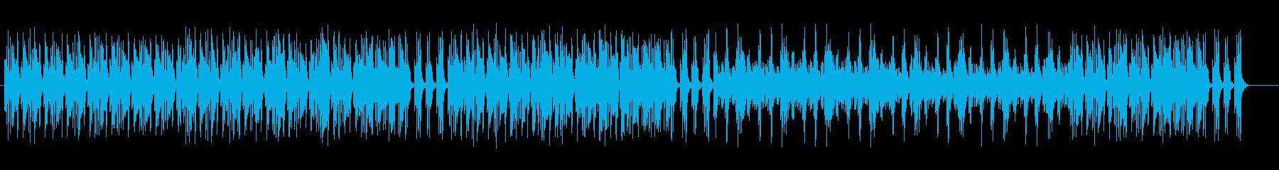 ダークで意味深なテクノミュージックの再生済みの波形