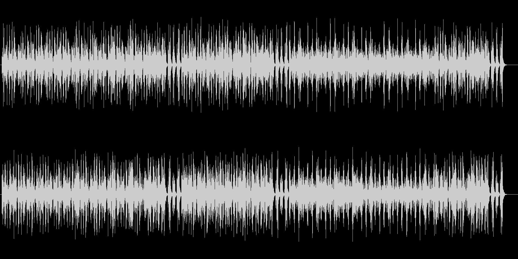 ダークで意味深なテクノミュージックの未再生の波形