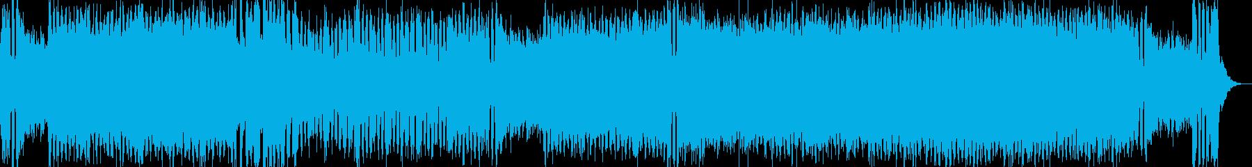 ゲーム用テクノレベルアップバトルBGMの再生済みの波形
