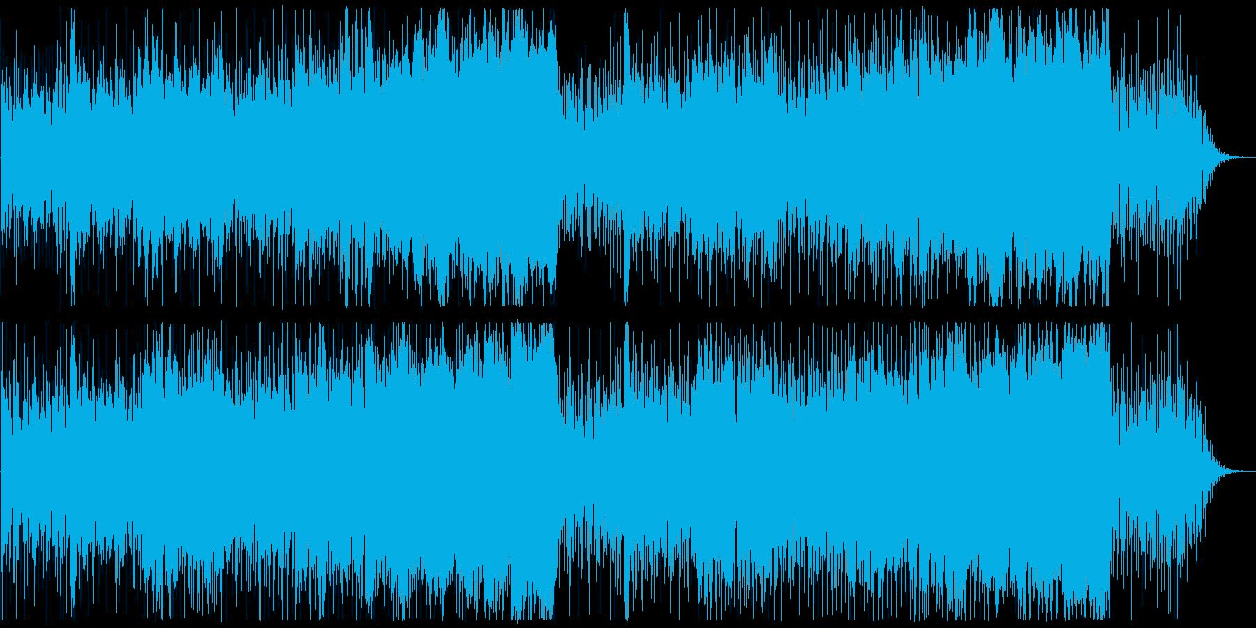 戦争や過酷な状況のシネマチックなBGMの再生済みの波形