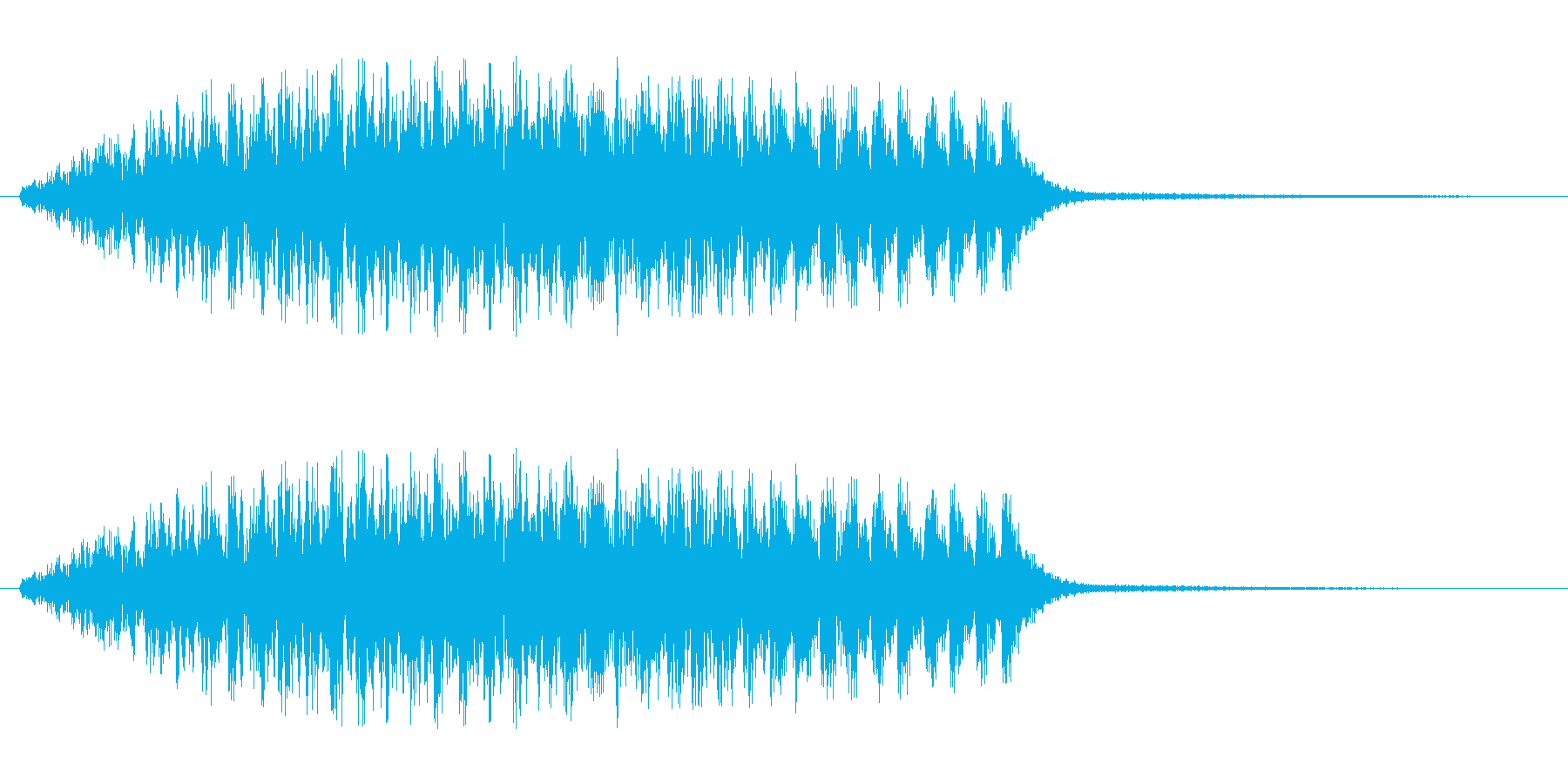 ビュイーン(高音で伸びのある決定音)の再生済みの波形