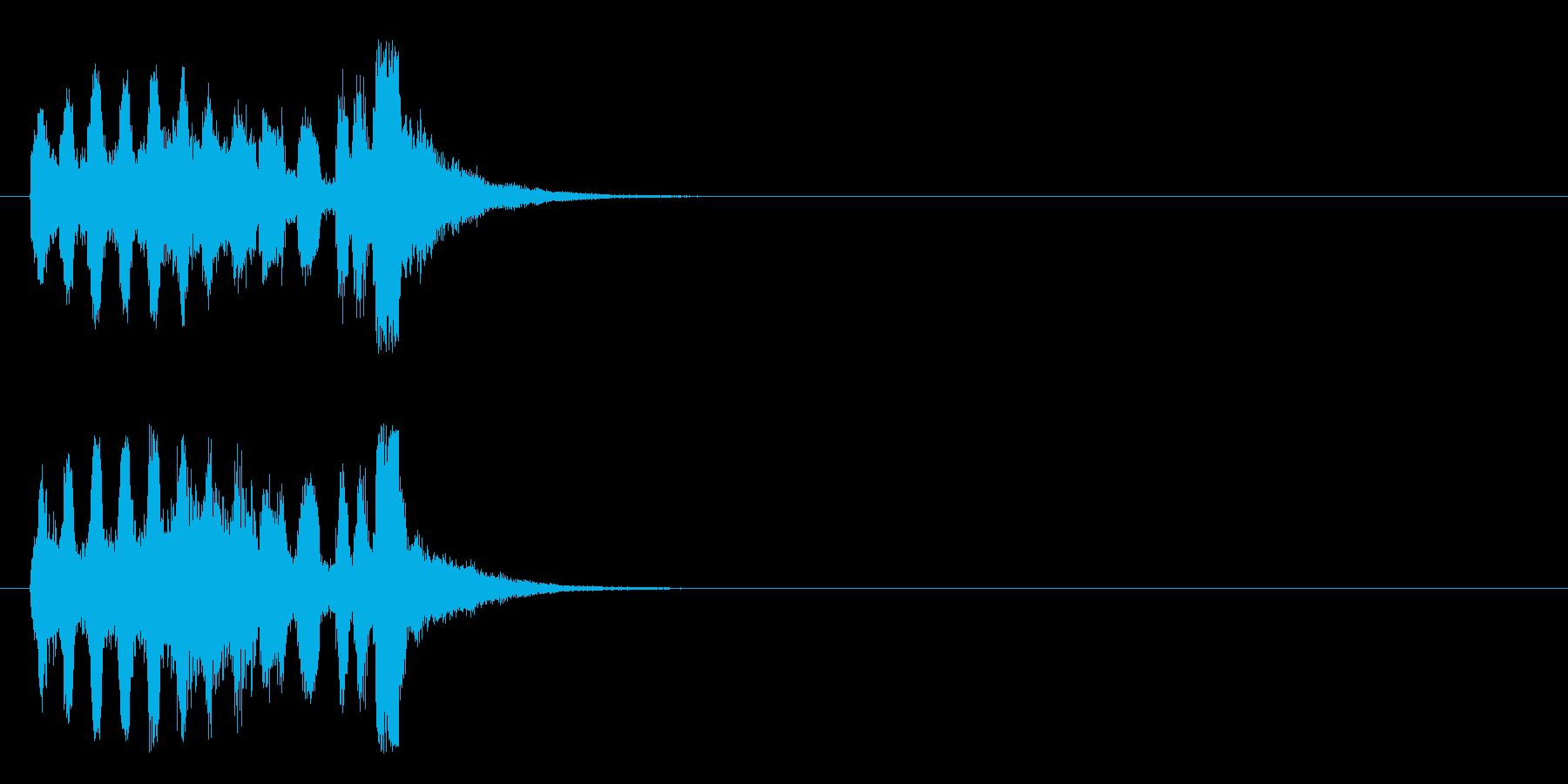 キュー・アタック風パニックのジングルの再生済みの波形