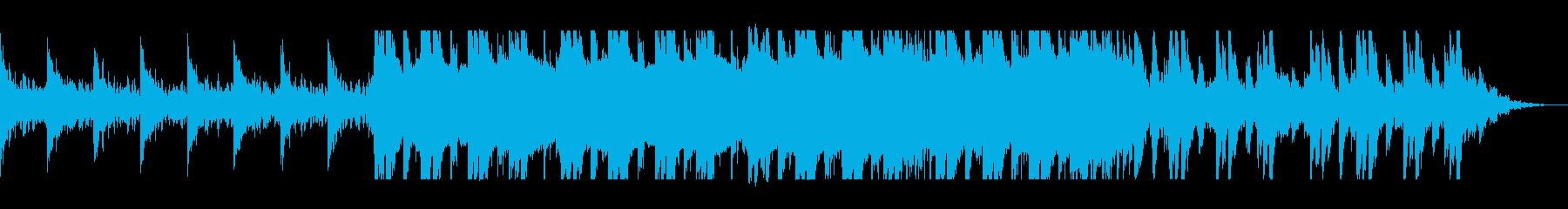 神秘的でゆったりしたピアノシンセサウンドの再生済みの波形