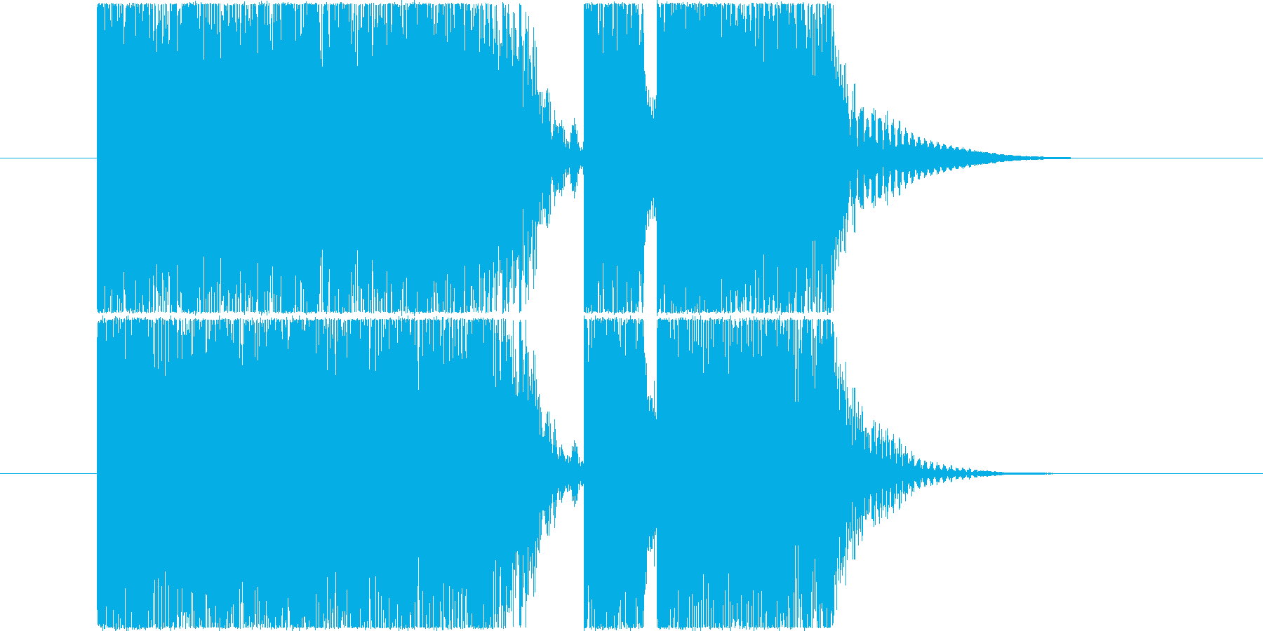 ロック系ジングル~攻撃的なアイキャッチ~の再生済みの波形