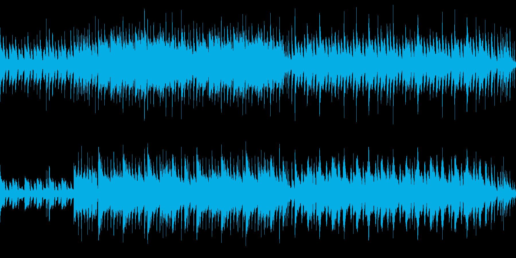ノンビリした日常系BGMループOKの再生済みの波形