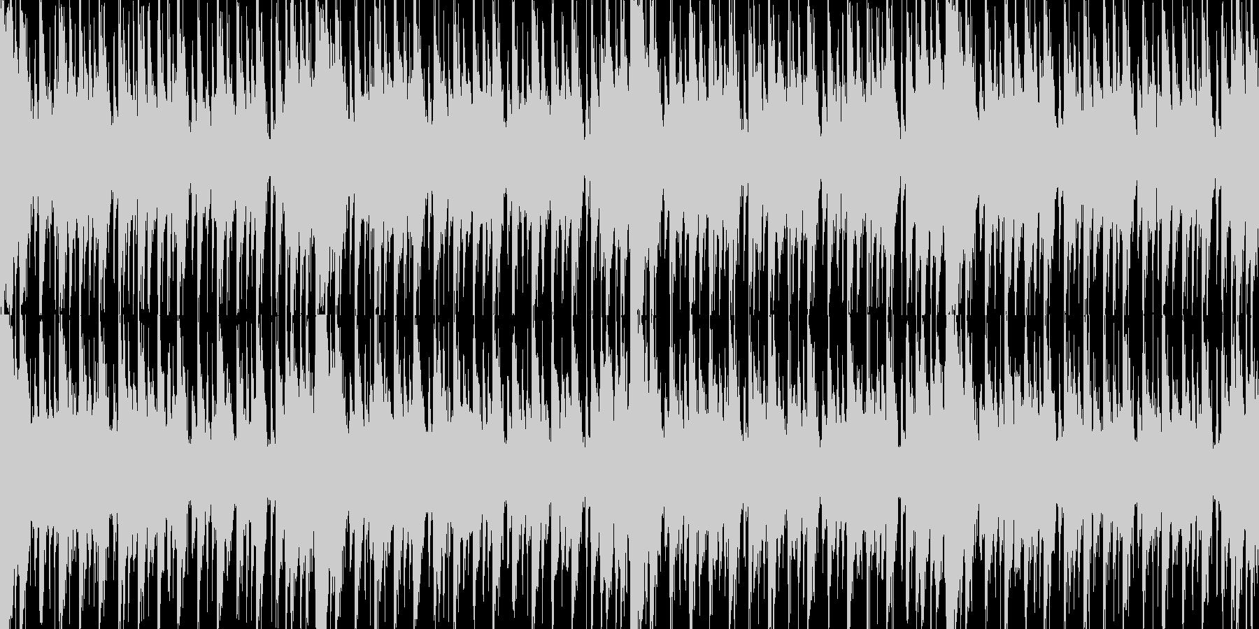 カッティングギター系短ループ曲の未再生の波形