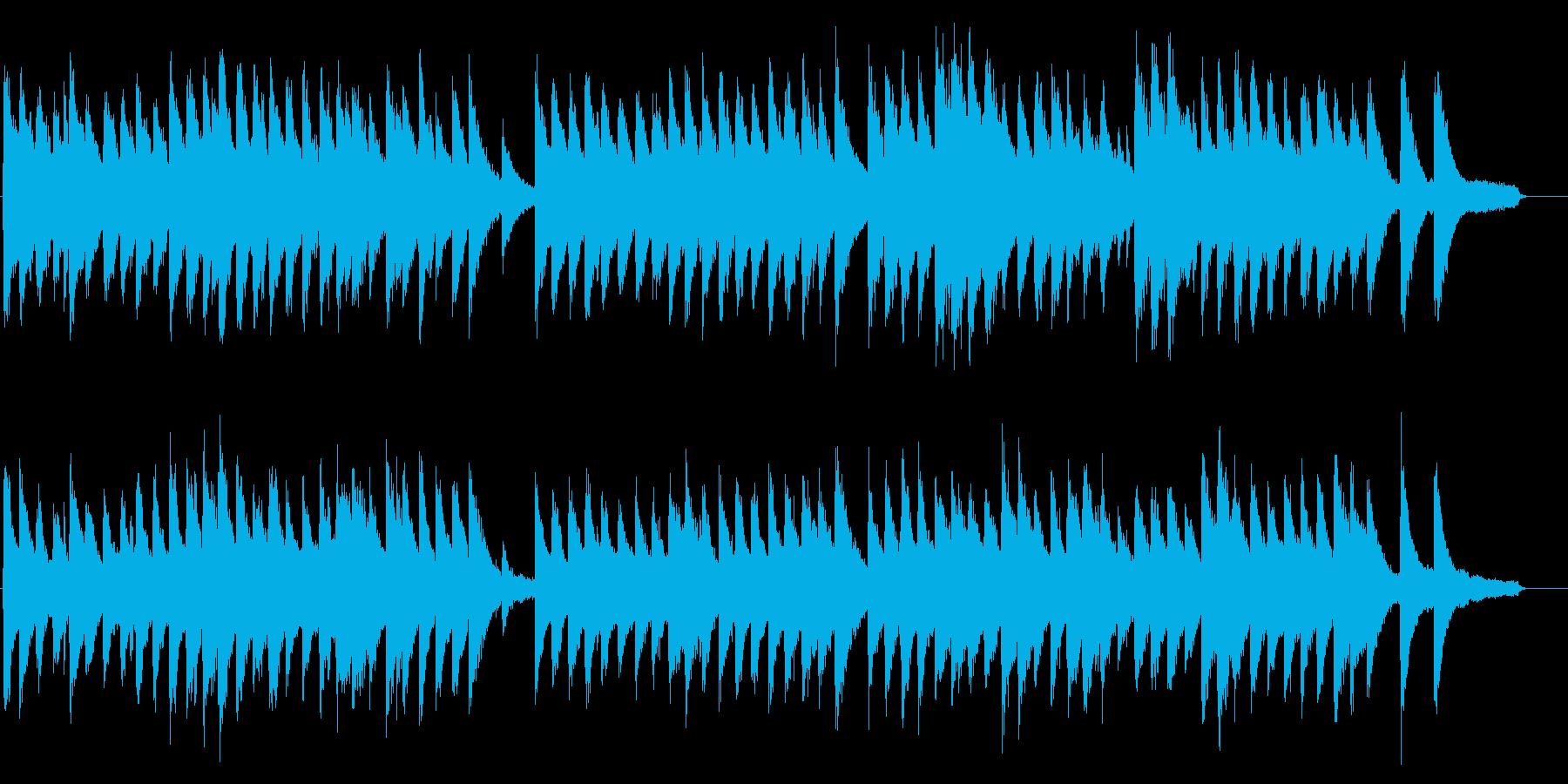 ひとりで寂しい様子を表したピアノ・ソロ曲の再生済みの波形