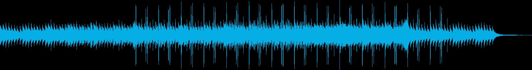 瑞々しさのあるアンビエントな曲の再生済みの波形