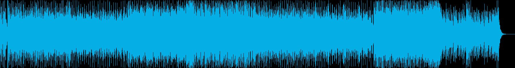 和楽器を使った四つ打ちEDMの再生済みの波形