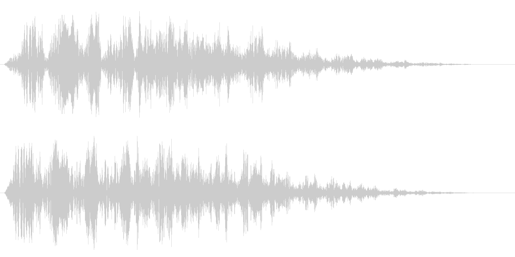 ピュルルルルルルン(下がっていく)の未再生の波形