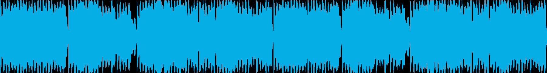 8bit風BGM 地平線への再生済みの波形