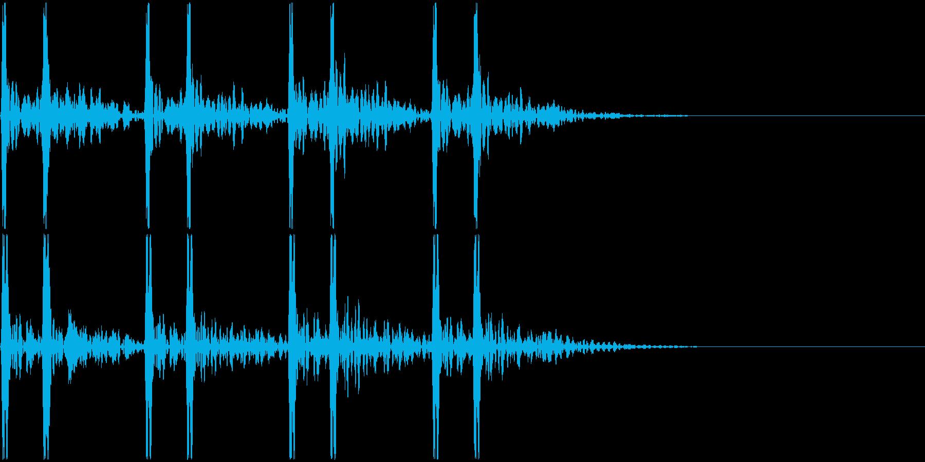 心臓-鼓動音 <4回>の再生済みの波形