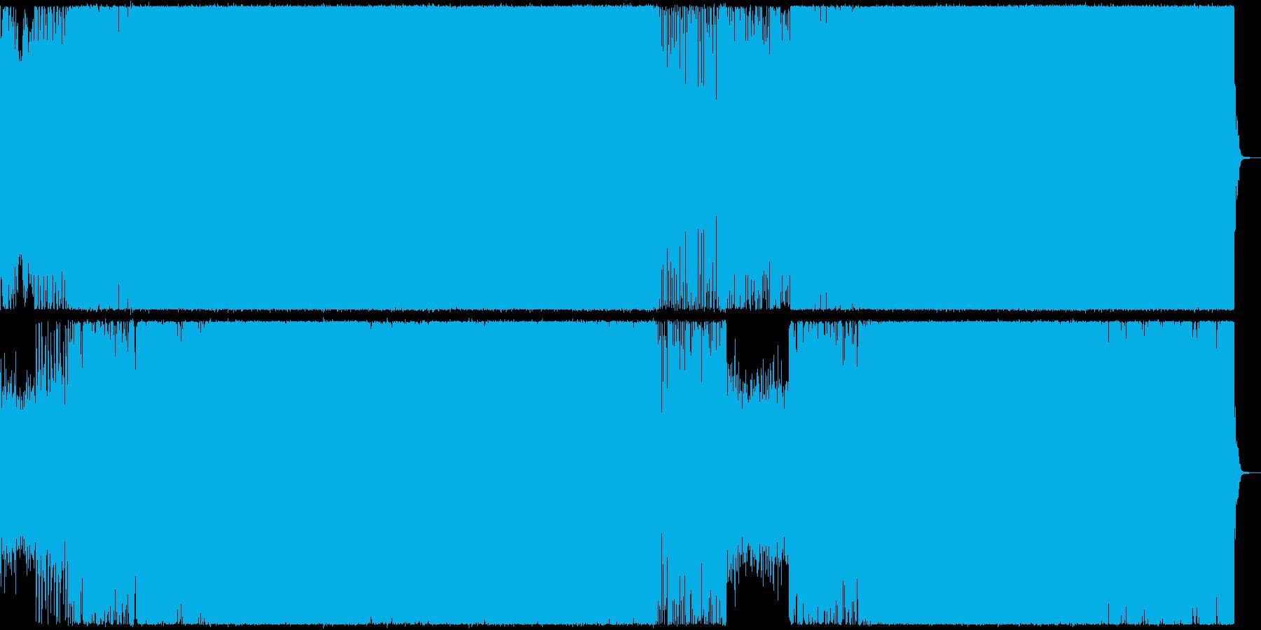 疾走感のあるEDMの再生済みの波形