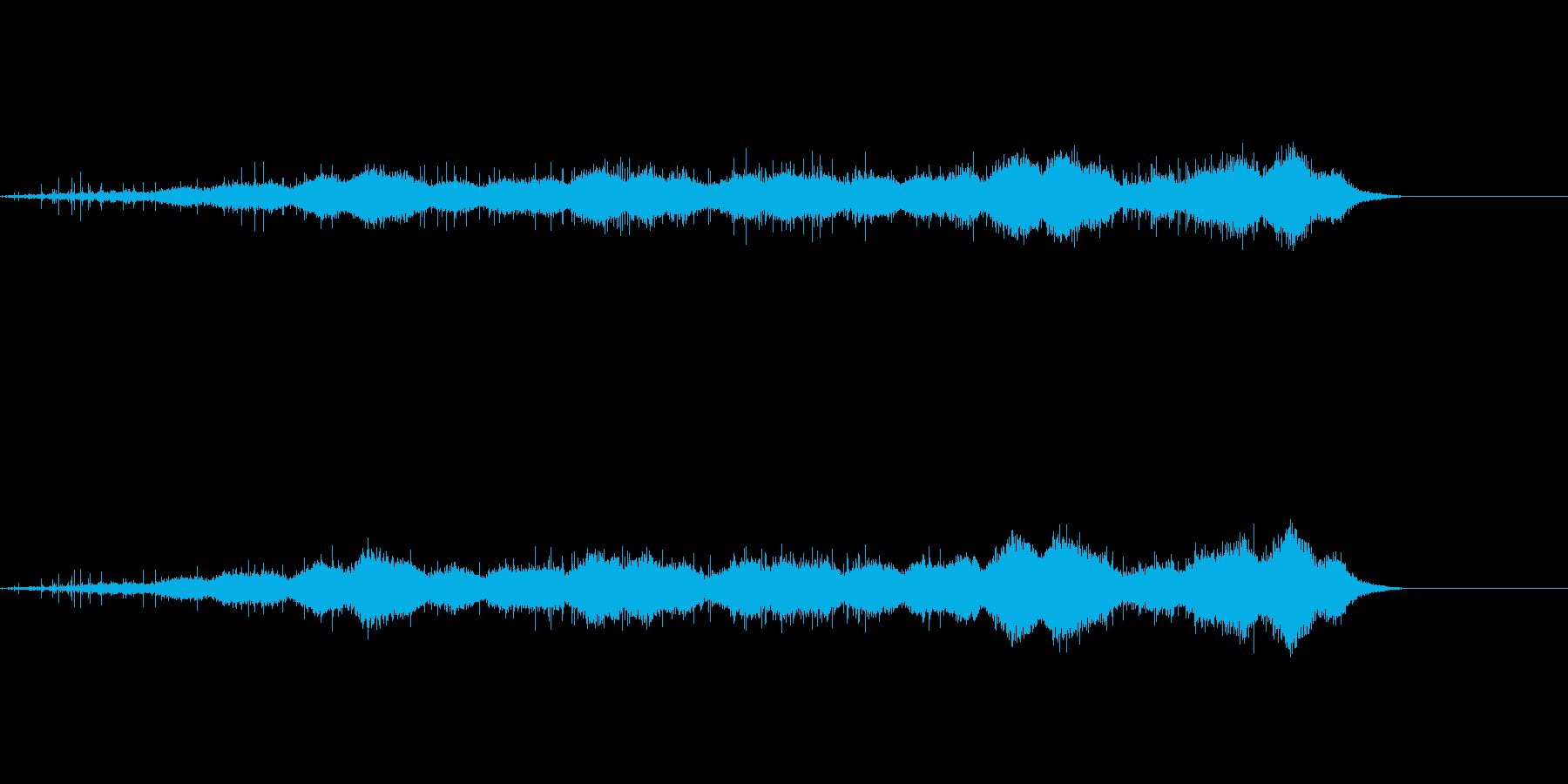 ジュー(焼く、炒める)の再生済みの波形
