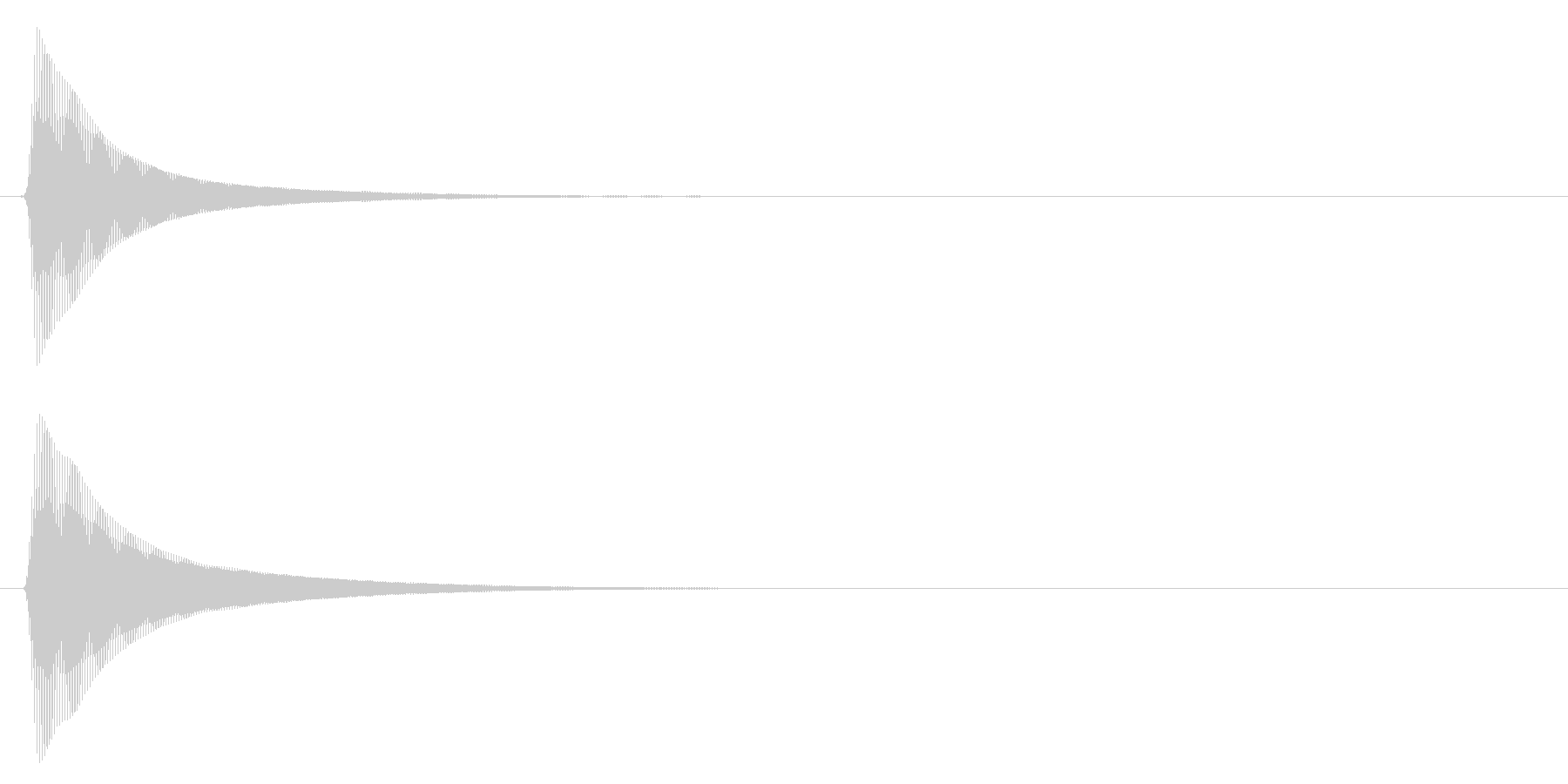 木琴/選択音/シンプルの未再生の波形