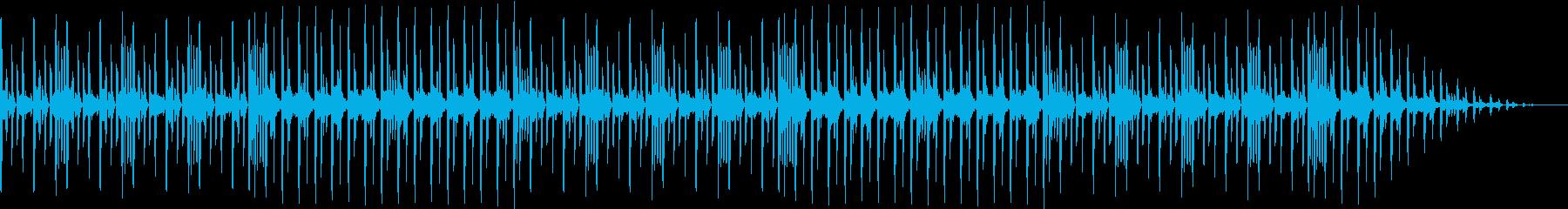 メニュー選択などに最適なループBGMの再生済みの波形