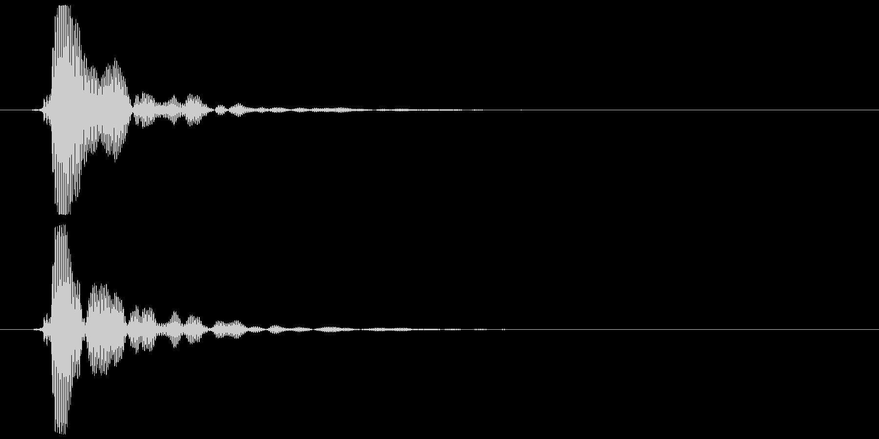 ポン (テロップ音、選択音風)①の未再生の波形