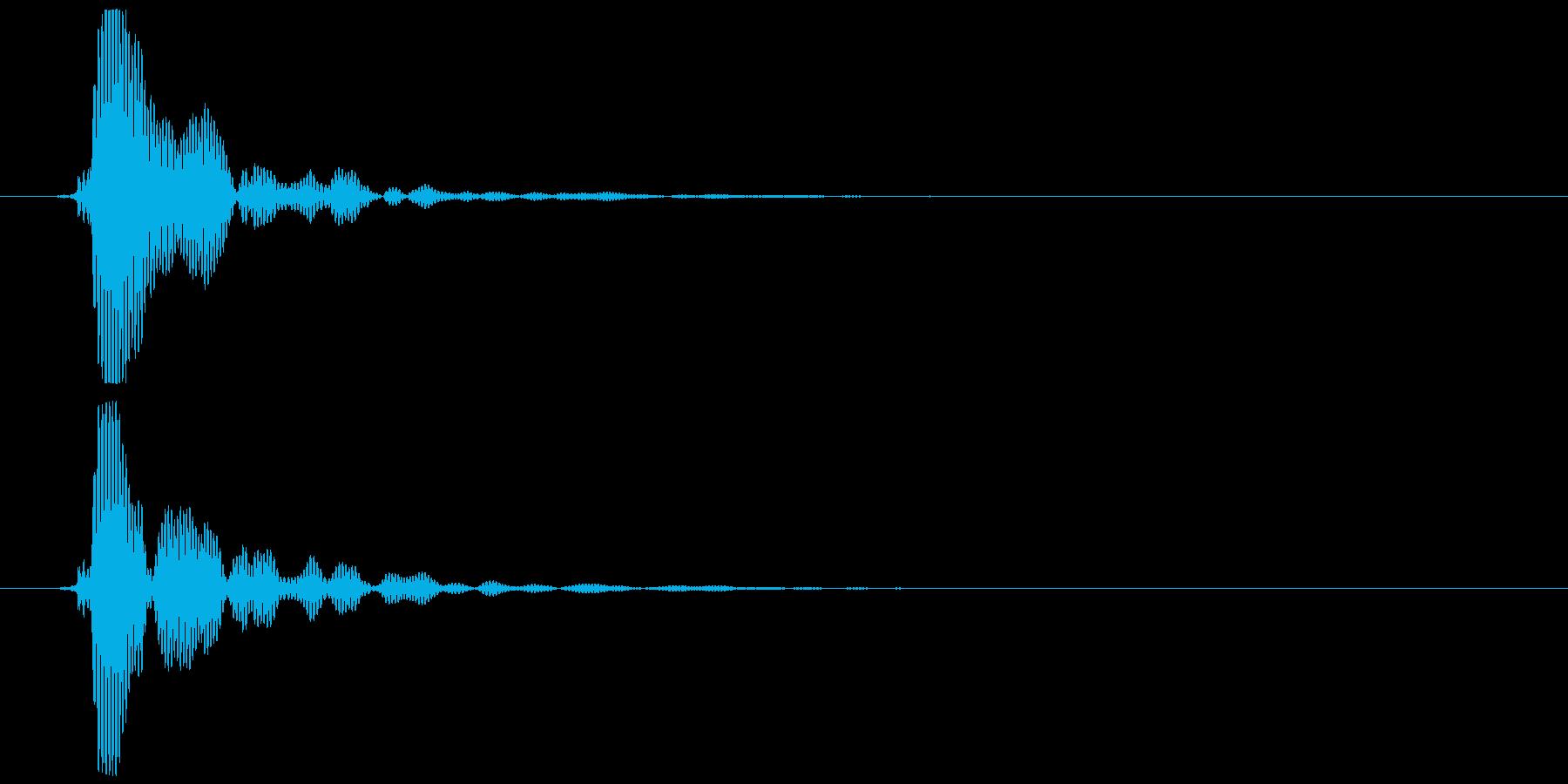 ポン (テロップ音、選択音風)①の再生済みの波形