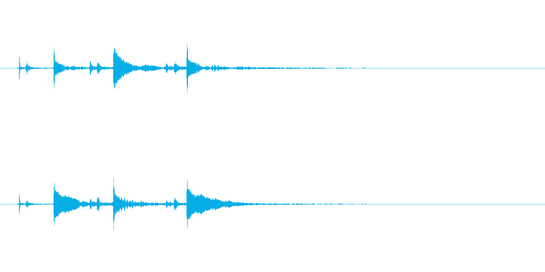【SE 効果音】効果音その17の再生済みの波形